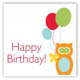 Birthday Owl Gift Tag