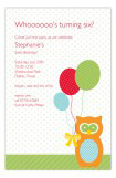 Birthday Owl Invitation