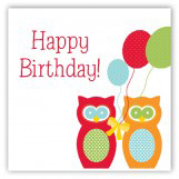 Birthday Owls Gift Tag