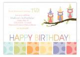 Birthday Owls Invitation