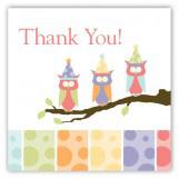 Birthday Owls Square Sticker