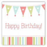 Birthday Party Banner Square Sticker