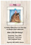 Birthday Pony Invitation