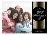 Black And Gold Deco New Year Photo Card
