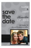 Black and Grey Save the Date Photo Card