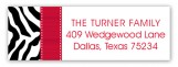 Black and Red Zebra Address Label