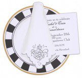 Black and White China Plate Invitation