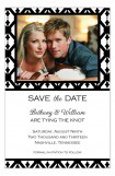 Black and White Lattice Save the Date Photo Cards