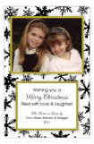 Black and White Snowflakes Photo Card