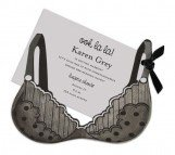 Black Bra With Polka Dots Invitation
