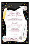 Black Cap and Diploma Invitation