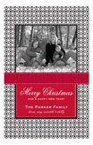 Black Cheer Custom Family Photo Cards