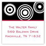 Black Pinwheel Square Sticker