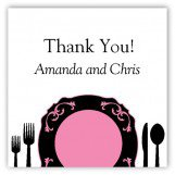 Black Plated Dinner Personalized Gift Tags