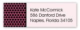 Black Polka Dot Undies Address Label