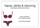 Black Polka Dot Undies Wedding Enclosure Cards