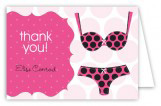 Black Polka Dot Undies Folded Note Card