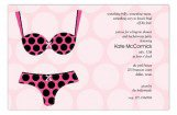 Black Polka Dot Undies Lingerie Shower Invitations