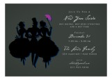 Black Savvy Party Invitation