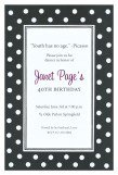 Black with Polka Dots Invitation