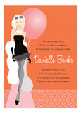 Blonde Balloon Birthday Bash Invitation