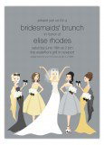 Blonde Bella Bridesmaids Invitation