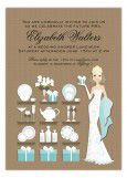 Blonde Blue Sassy Bridal Registry Invitation