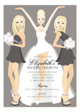 Blonde Bridal Beauties Invitation