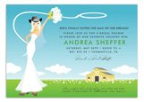 Blonde Classic Country Bride Invitation