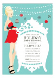 Blonde Classic Crib Mama Holiday Invitation