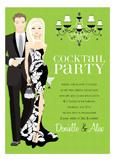Blonde Cocktail Party Kelly Green Invitation