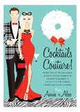 Blonde Cocktails + Couture Invitation