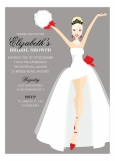 Blonde Here Comes The Bride Holiday Invitation