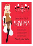 Blonde Racy Reindeer Invitation