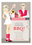 Blonde Southwest BBQ Invitation