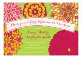 Blooming Beautiful Invitation