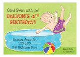 Blow Up Pool Boy Invitation