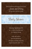 Blue and Brown Damask Invitation