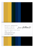 Blue and Gold Stripes Invitation