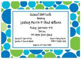 Blue and Green Bubbles Invitation