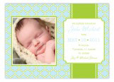 Blue and Green Preppy Pattern Photo Card