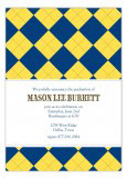 Blue and Yellow Argyle Invitation