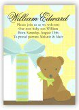 Blue Baby Bear Invitation