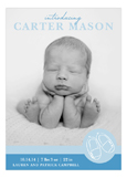 Blue Baby Shoes Photo Card
