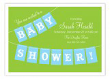 Blue Baby Shower Banner Invitation