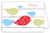 Blue Birds on a Wire Folded Note Card