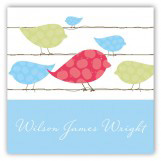 Blue Birds on a Wire Gift Tag