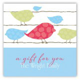 Blue Birds on a Wire Square Sticker