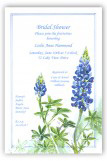 Blue Bonnet Invitation