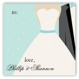 Blue Bow Tie Gift Tag